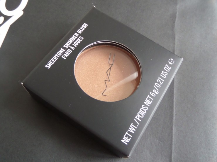 MAC Blusher in Trace Gold Review