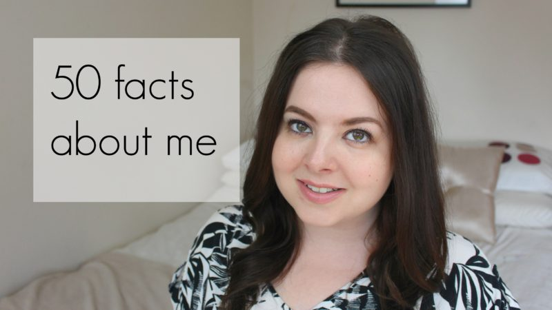 50 facts about me video
