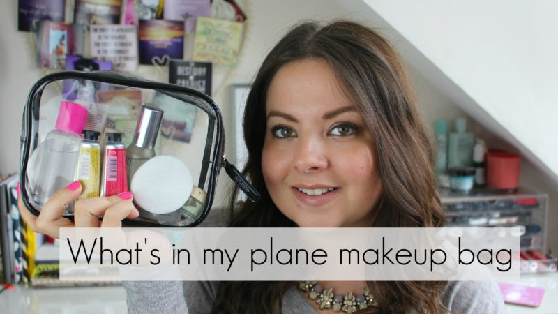 What's in my plane makeup bag