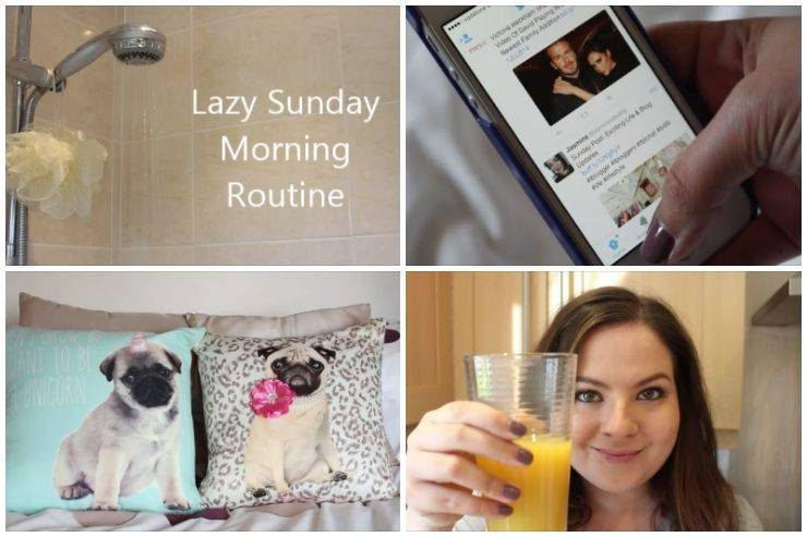Lazy Sunday morning routine