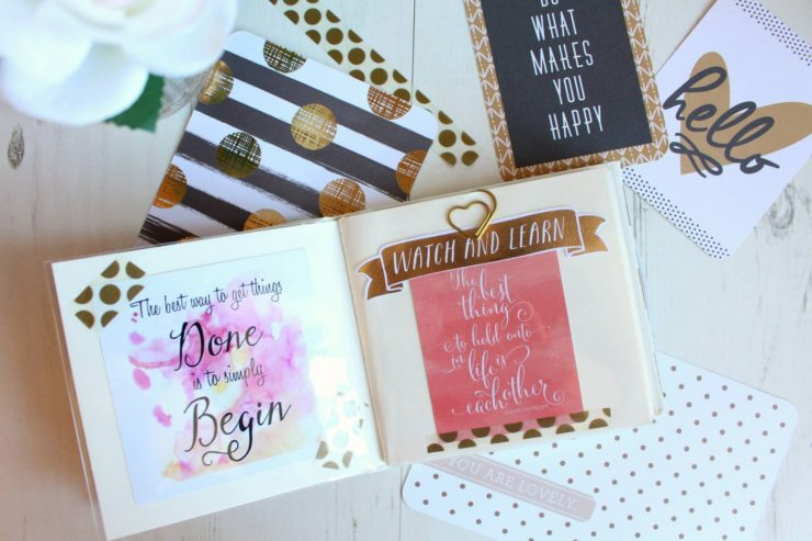 Getting creative with scrapbooking