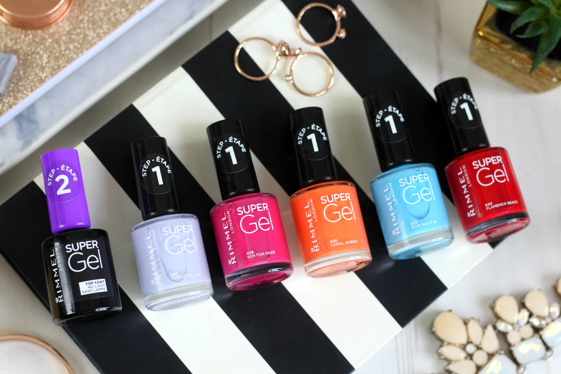Adding colour for summer with the Rimmel super gel polishes