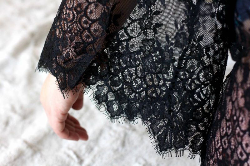 Adding a little luxury with a Hunkemoller lace kimono