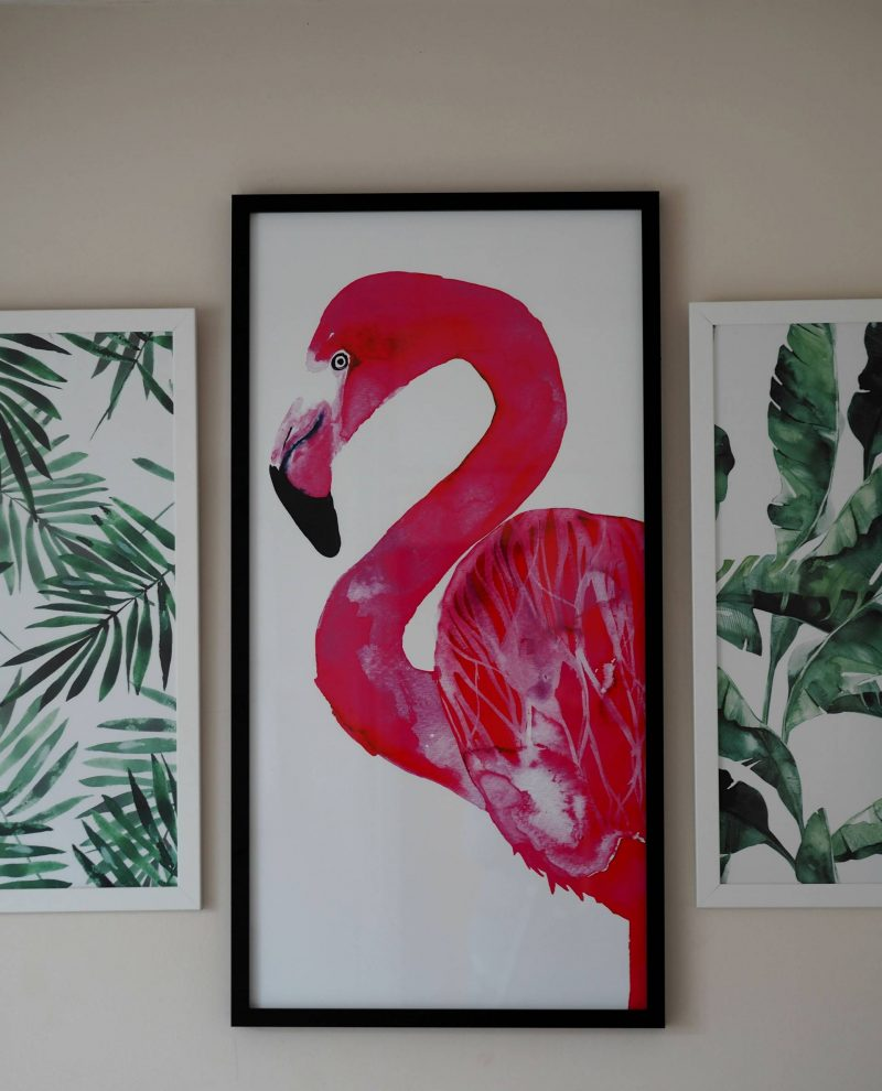 Adding colour with wall art